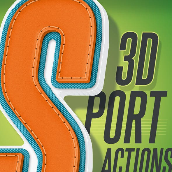 3D Sport Text - Actions
