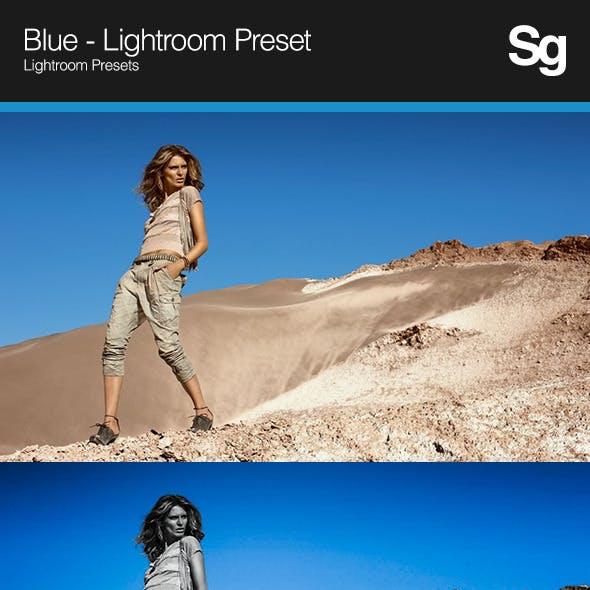 Blue - Lightroom Preset