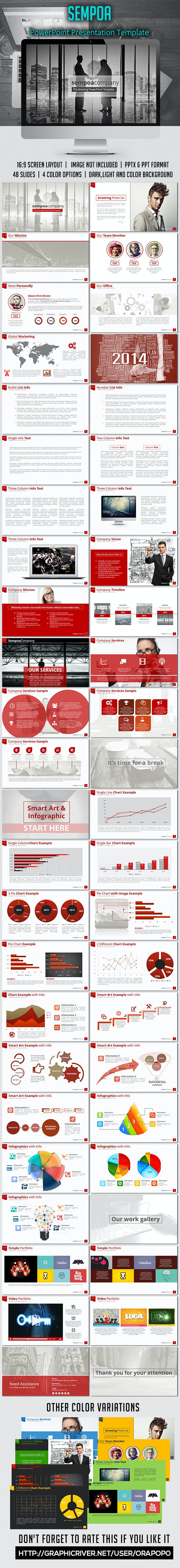 Sempoa PowerPoint Presentation Template - Business PowerPoint Templates