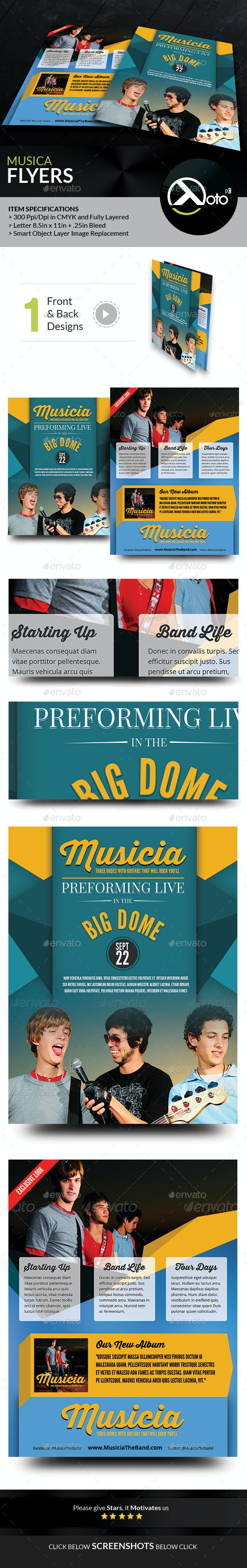 Musica Artist Profile Flyers - Events Flyers