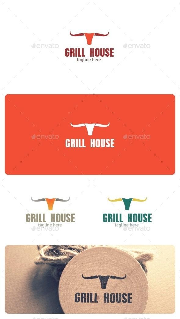 Grill House Logo - Animals Logo Templates
