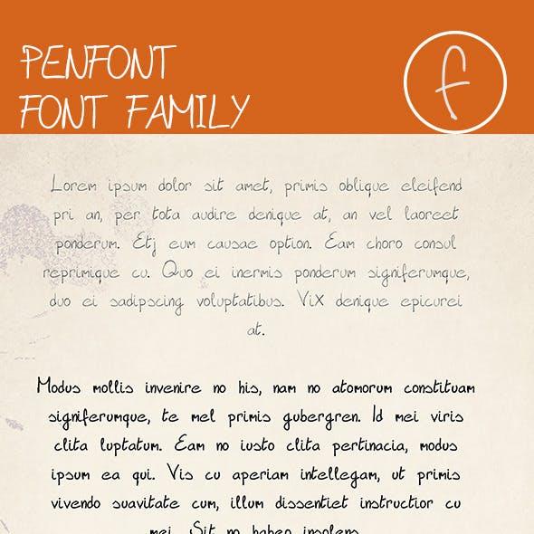 PenFont  Font Family