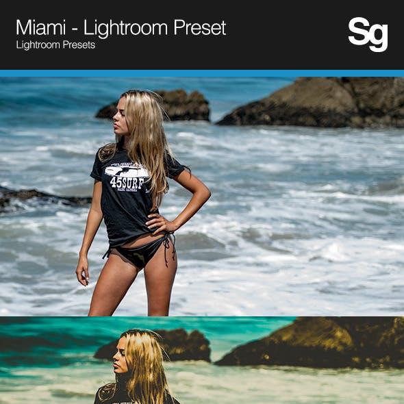 Miami - Lightroom Preset