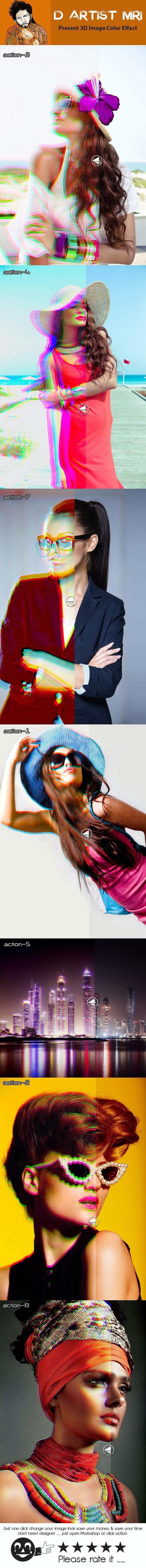 3D Image Color Effact - Actions Photoshop