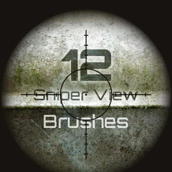 12 Sniper Scope Brushes