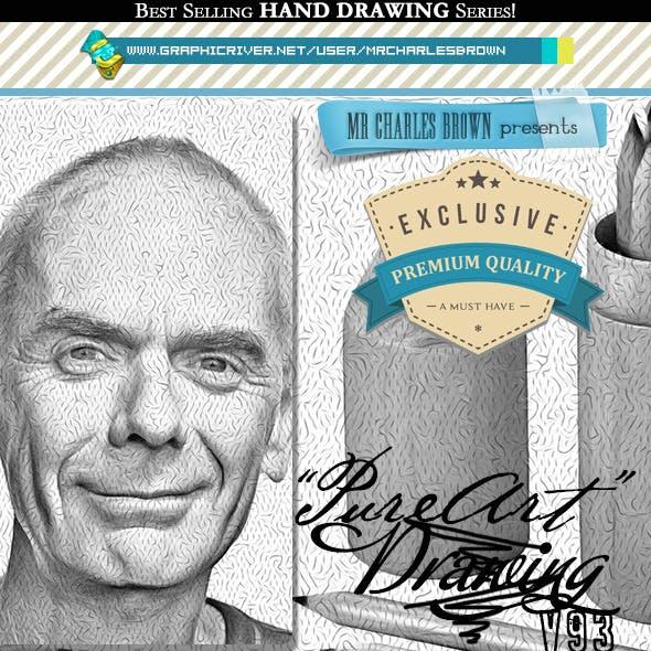 Pure Art Hand Drawing 93 – Acrylic Fluid Art 9