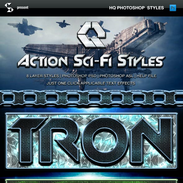 Action Sci-Fi Styles - scifi text effects