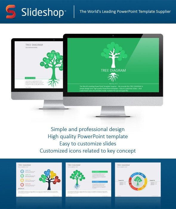 Tree Diagram Flat - Business PowerPoint Templates