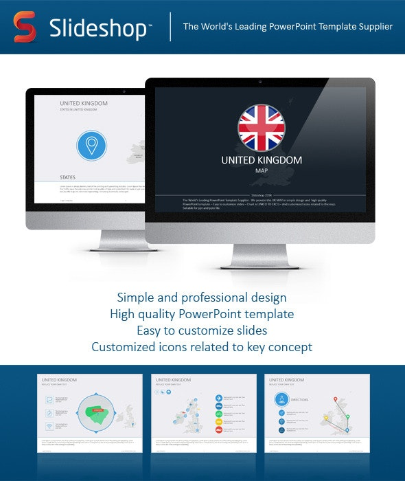 United Kingdom Map - Creative PowerPoint Templates