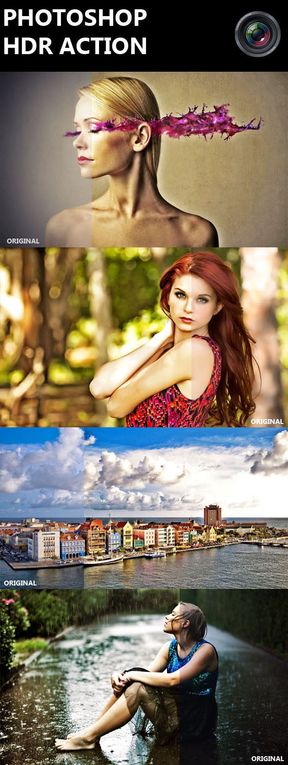 Photoshop HDR Action - Photo Effects Actions