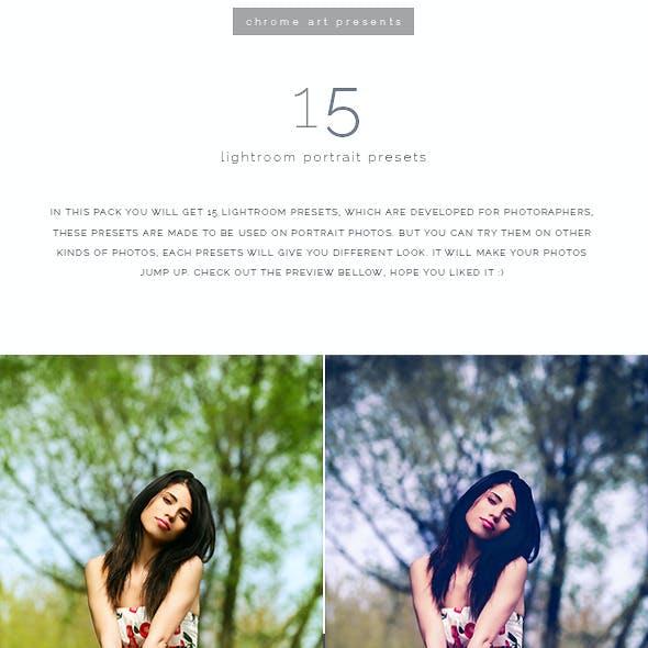 15 Lr Portrait Presets