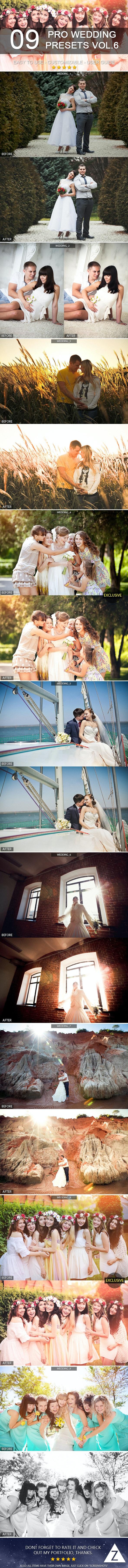 9 Pro Wedding Presets vol.6 - Wedding Lightroom Presets