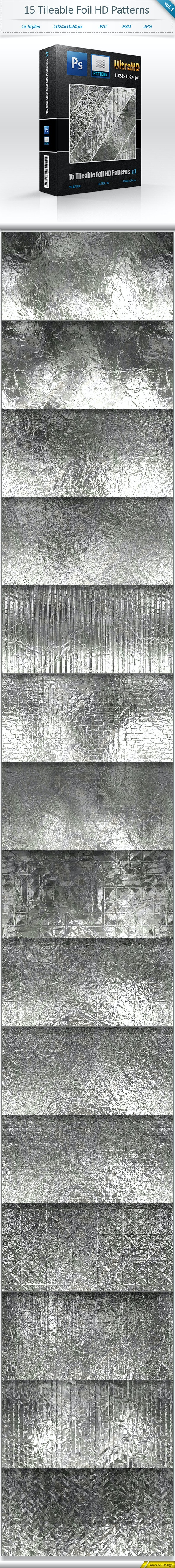Foil Tileable Pattern Backgrounds (vol 1) - Textures / Fills / Patterns Photoshop