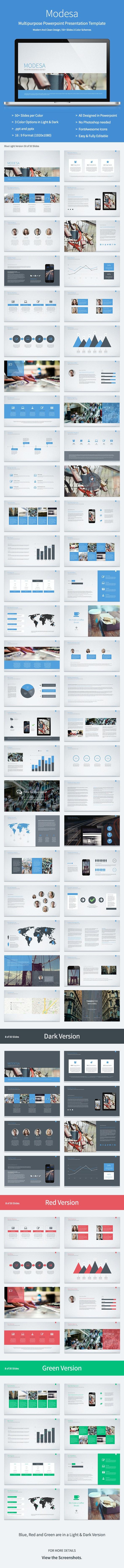 Modesa - Powerpoint Multipurpose Template - PowerPoint Templates Presentation Templates