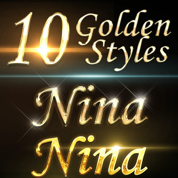 10 Gold Text Effects