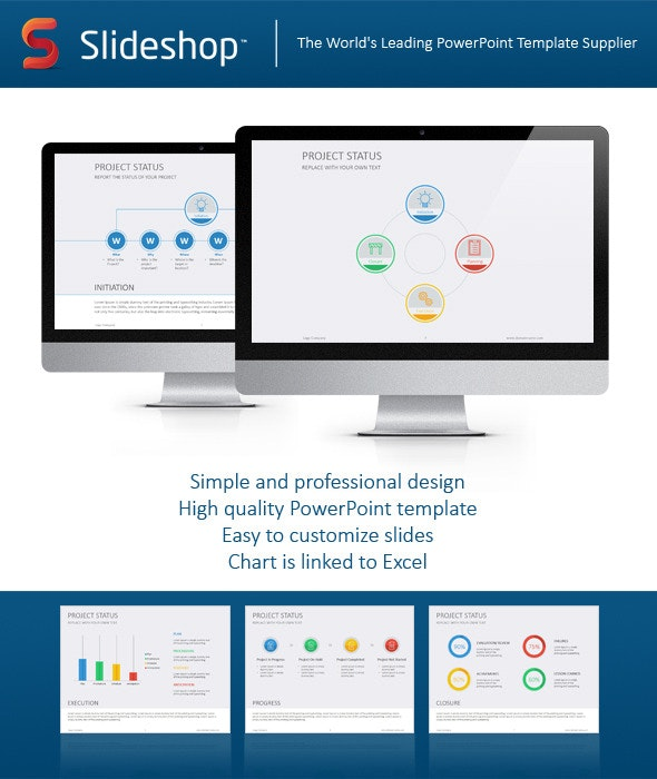 Project Status Flat - Business PowerPoint Templates