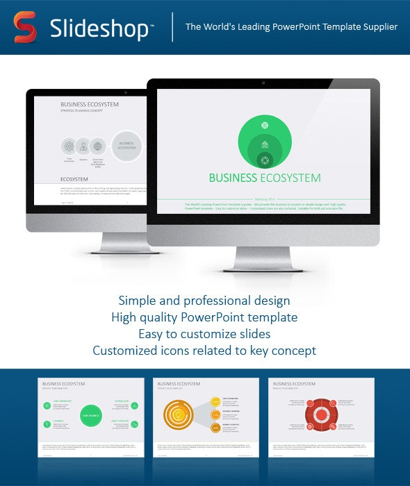 Business Ecosystem Flat - Business PowerPoint Templates