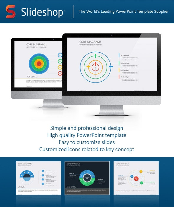 Core Diagram Flat - PowerPoint Templates Presentation Templates