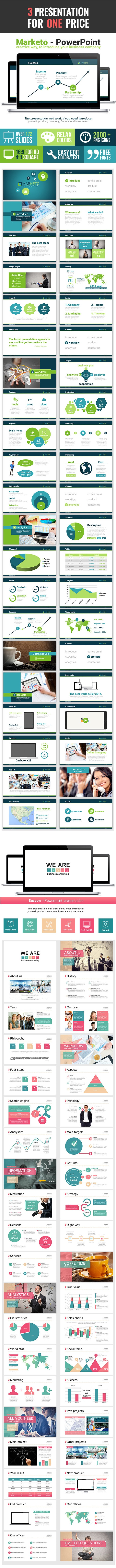 3 in 1 Powerpoint Bundle V2.0 - Finance PowerPoint Templates