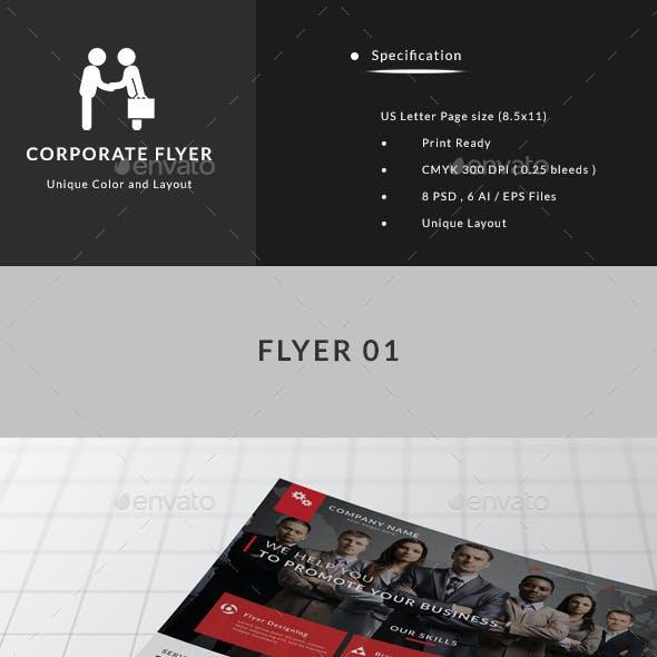 Company Modern Flyers Bundle ( 4 in 1 )