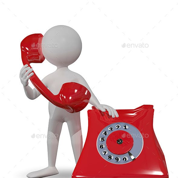 Man with Red Telephone