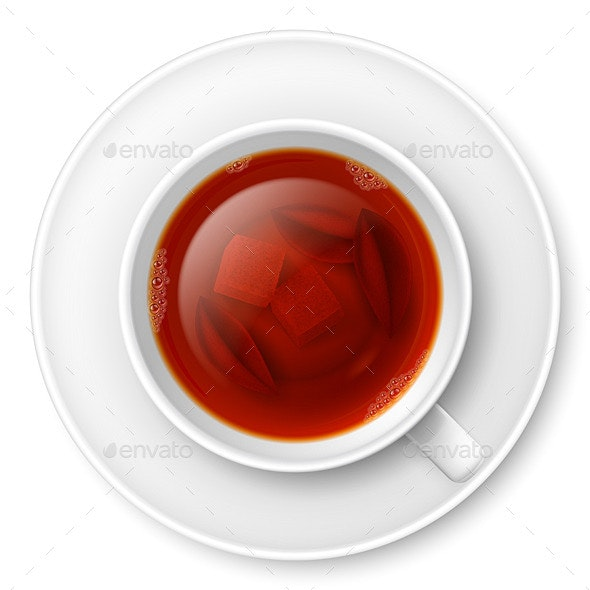 Cup of Black Tea - Food Objects