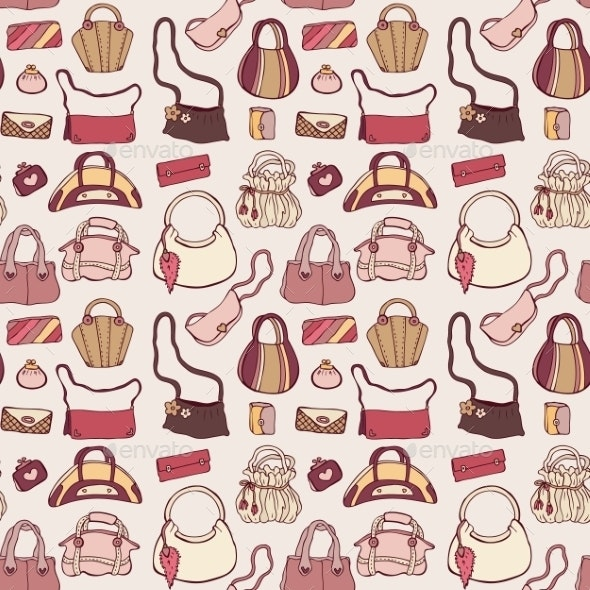 Women Handbags Seamless Pattern - Backgrounds Decorative