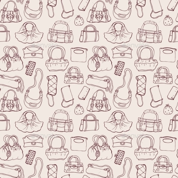 Women Handbags Seamless Pattern - Backgrounds Decorative