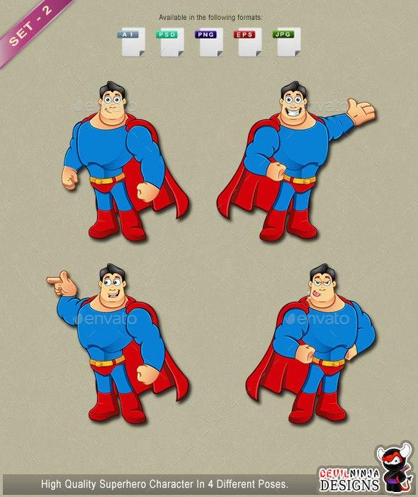 Superhero Mascot - Set 2 - People Characters