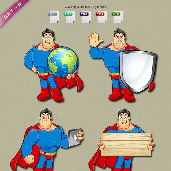 Superhero Mascot - Set 6