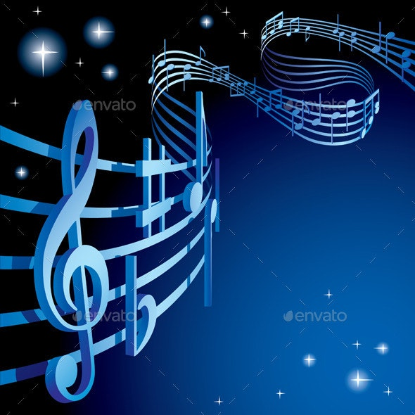 Background on a Musical Theme - Decorative Symbols Decorative