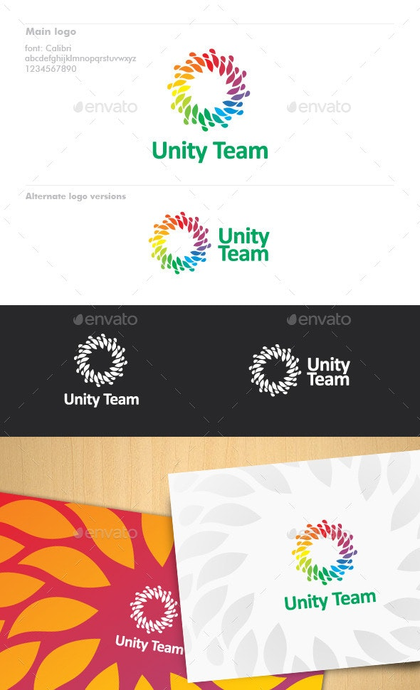 Unity Team Logo - Abstract Logo Templates