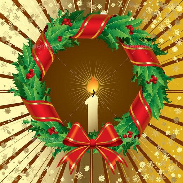 Holly Wreath - Christmas Seasons/Holidays