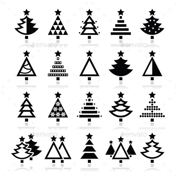 Christmas Tree Icons - Christmas Seasons/Holidays