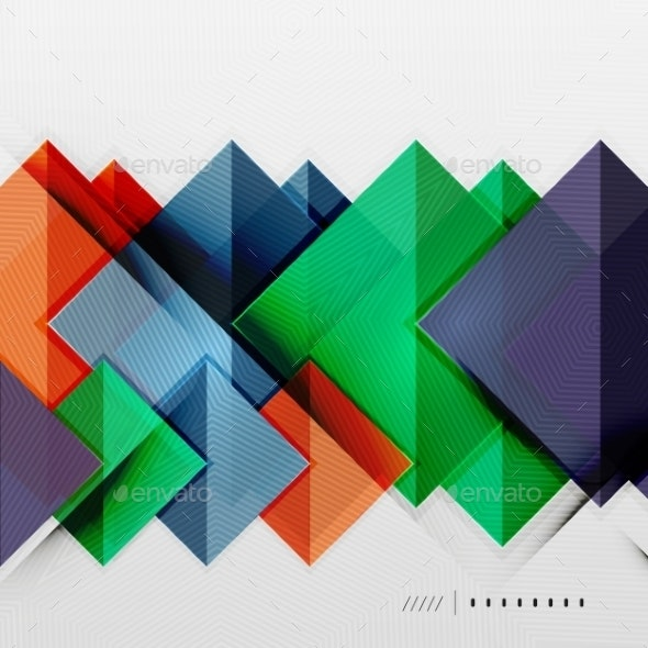Geometric Squares Background - Backgrounds Business