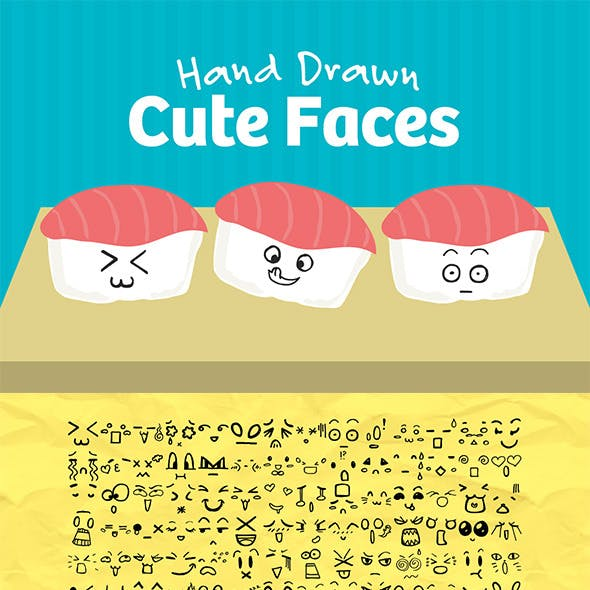 101 Hand Drawn Cute Faces