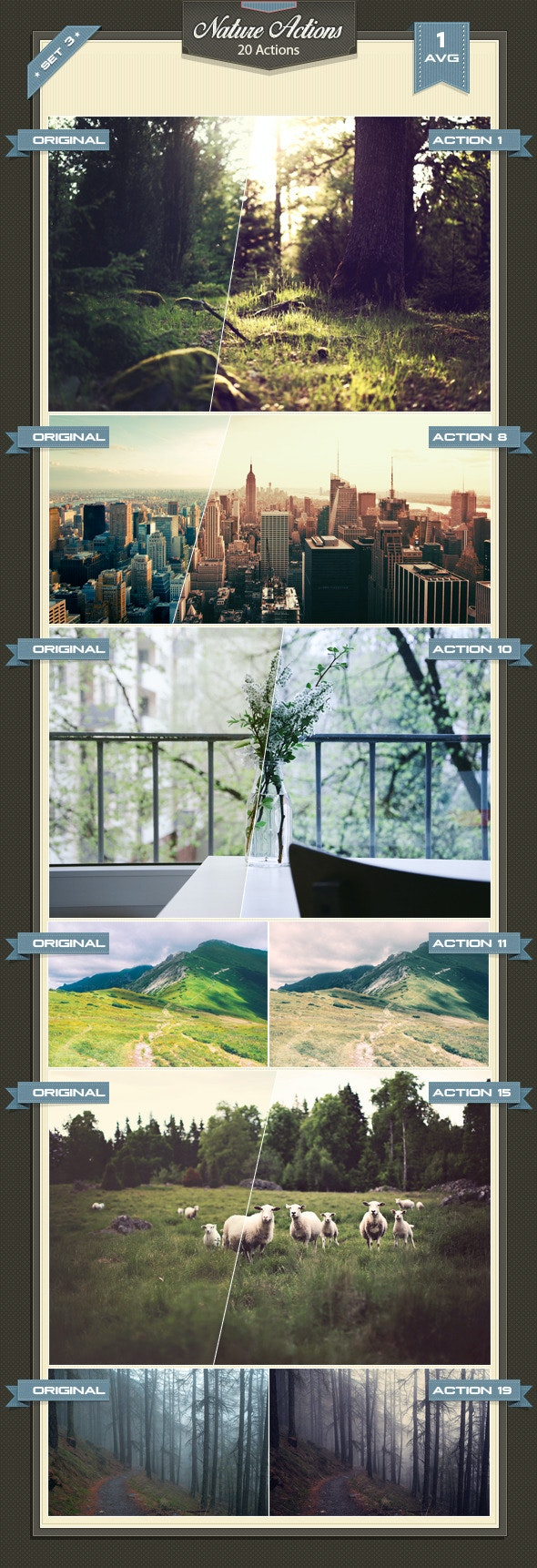 Nature Photoshop Actions Set 3 - Photo Effects Actions