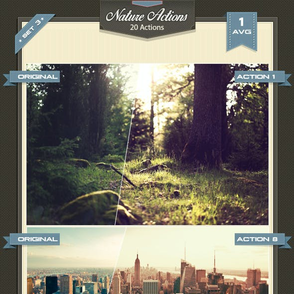 Nature Photoshop Actions Set 3