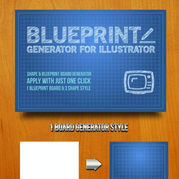 Blueprint Generator for Illustrator