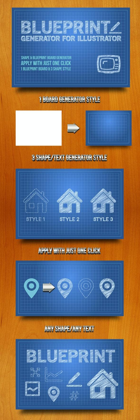 Blueprint Generator for Illustrator - Styles Illustrator