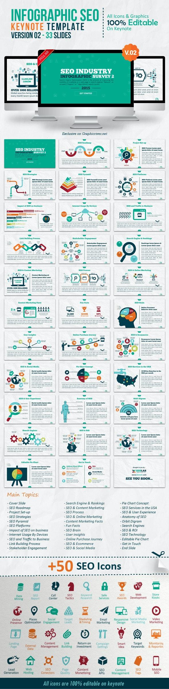 Infographic SEO Keynote V.02 - Creative Keynote Templates