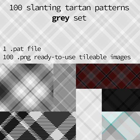 Tartan Pattern Collection - Slanting Grey Set