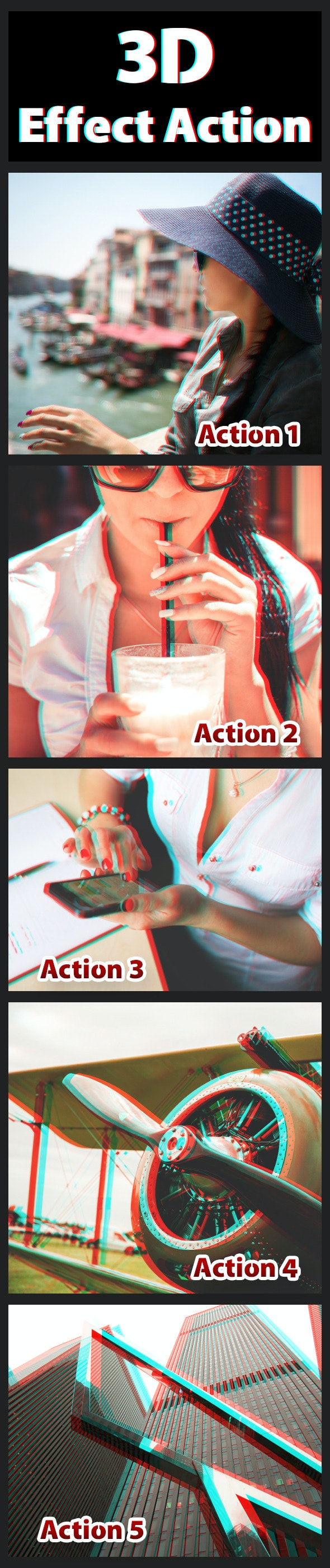 3D Effect Actions - Photo Effects Actions