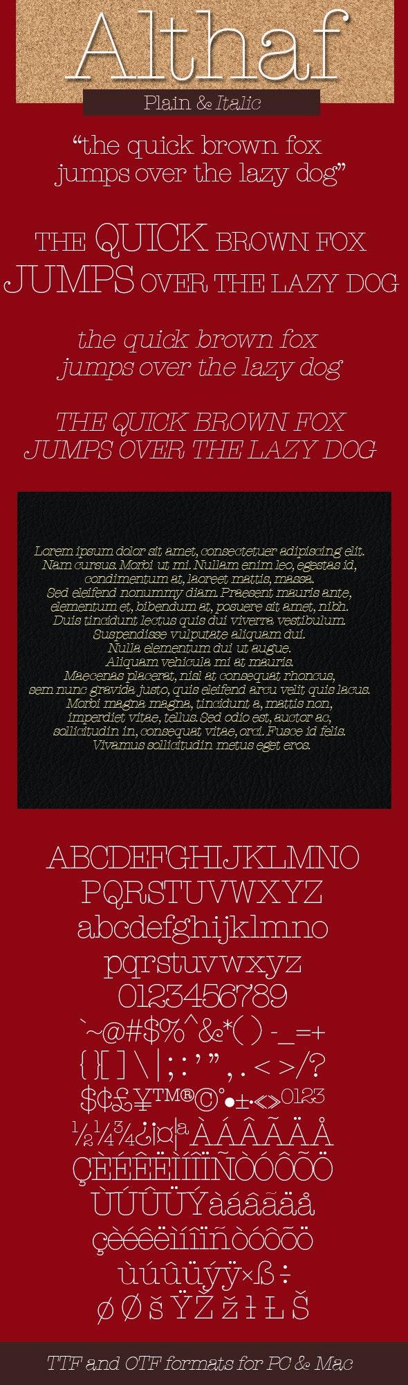 Althaf - Thin - Serif Fonts