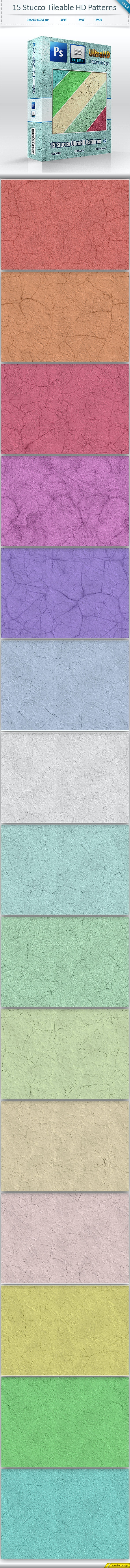 Stucco Tileable Patterns (vol 2) - Textures / Fills / Patterns Photoshop