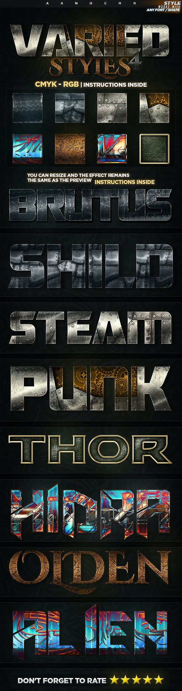 Varied Styles 4 - Text Effects Styles