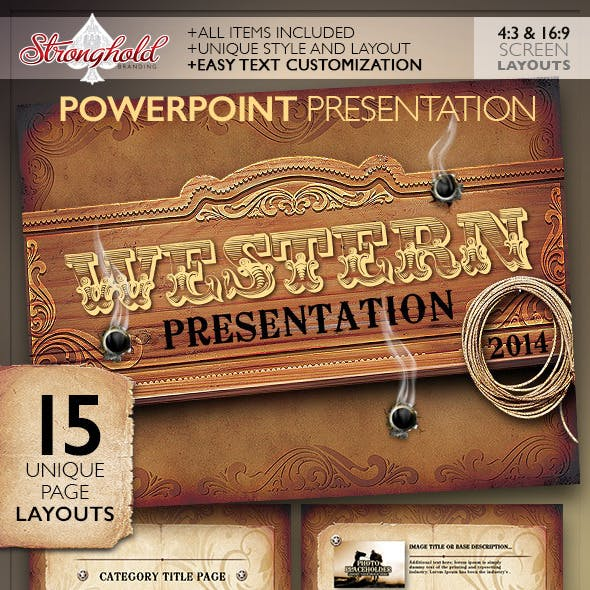 Western Style Powerpoint Presentation Template