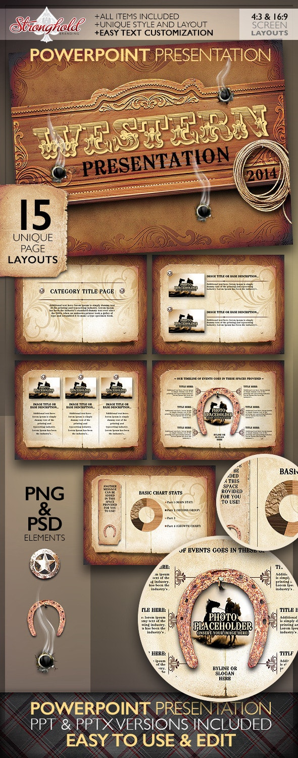 Western Style Powerpoint Presentation Template by getstronghold
