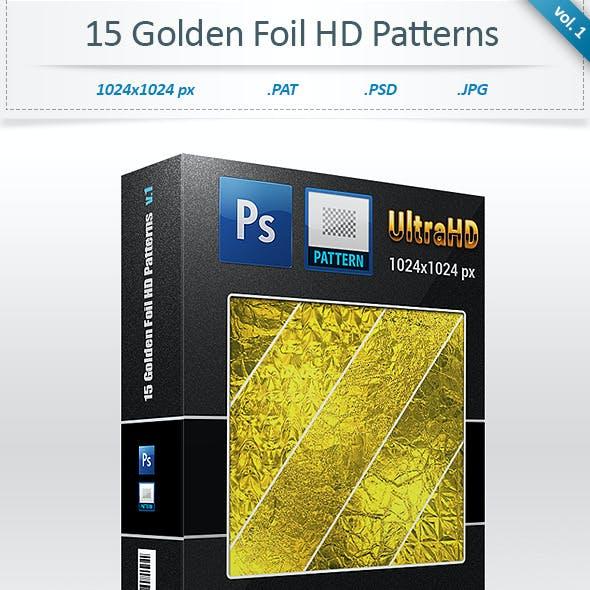 Golden Foil Tileable Patterns (vol 1)