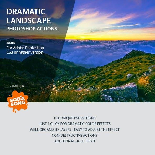 Dramatic Landscape Photoshop Actions